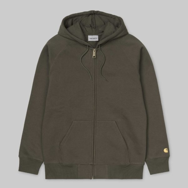 Hooded Chase Jacket - Cypress/Gold