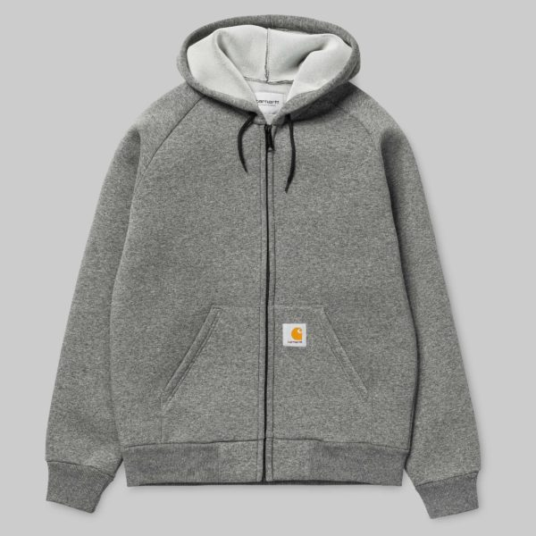 Car-Lix hooded jacket - Dark Grey Heather/Grey