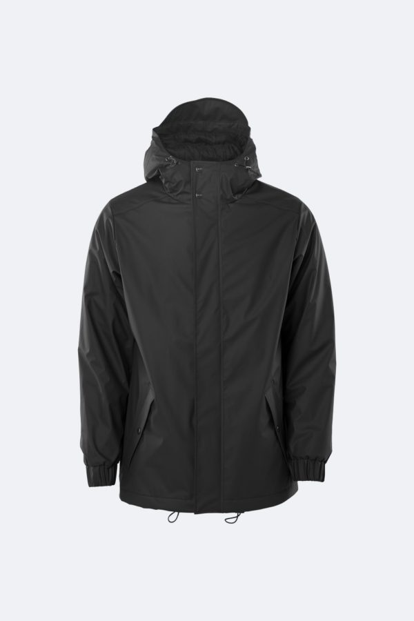 RAINS - Quilted Parka - Black